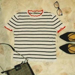 Zara Knit Striped top size S